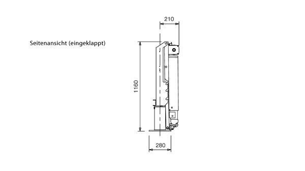 F500: Kompakter Kran mit 360° Drehbereich